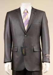 AC-681 Two Button Suit New Edition Shiny Flashy Sharkskin