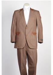 JSM-216 Mens 2 Button Denim Jean Single Breasted Suit