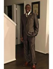 GD1516 Alberto Nardoni Best Mens Italian Suits Brands Brown