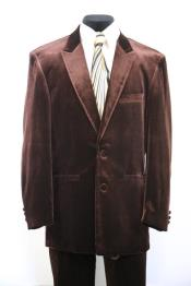 JA59 Harlem Velvet Brown Peak Lapel Zoot Suit