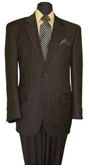 MU060 Two Button Style brown color shade Pinstripe Superior