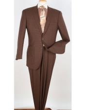 Mens 2 Button Pleated
