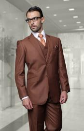 JSM-6923 Mens Big Size Vested Suits 2 Button Wool