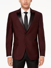 JS304 Mens Slim Fit Burgundy ~ Maroon Tuxedo