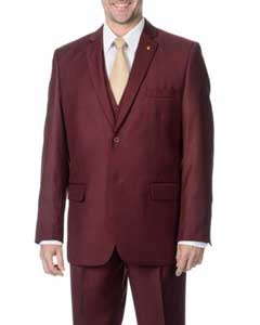 BC-12 Two Button Peak Lapel Vested Three Piece Pleated
