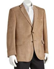 Mens 2 Button Microsuede Polyester