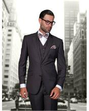 JSM-1308 Mens Statement 2 Button Heather Charcoal Modern Fit