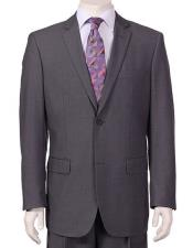 JSM-6137 Mens Vitali Single Breasted Authentic 2 Button Charcoal