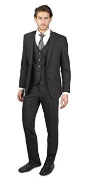 Mens 2 Button Charcoal Grey