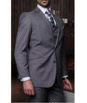 JSM-1265 Mens Statement 2 Button Charcoal Grey 3 Piece