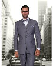 JSM-1320 Mens Statement 2 Button Charcoal Grey Modern Fit