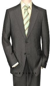 Product#S80028High-qualityConstructionTwo-Button-2ButtonStylePinstripeCharocoalGray