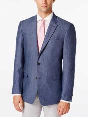 JSM-316 Mens Denim 2 Button Linen Sport Coat Classic