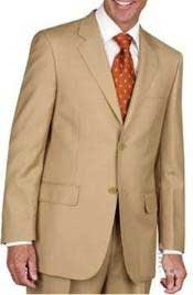 JL1883 Two Button Suit - Gold ~ Camel ~