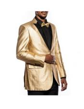 GD1252 Mens 2 Button Tuxedo Gold Jacket Slim Fit