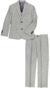 JA201 Mens Single Breasted Flap Lapel Gray Mens 2