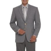 Two-Button Center-Vented Gray ~ Grey