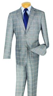Mens Plaid Window Pane Glen