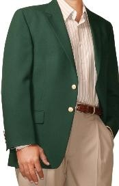 HL9643 Two Button Blazer Online Sale Hunter Green (