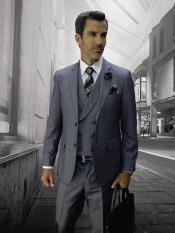 CALABRIA GREY Statement Plaid Suit