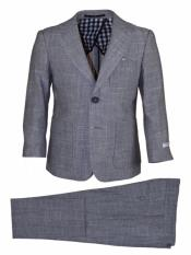 JA185 Mens Notch Lapel 2 Button Grey Mens 2