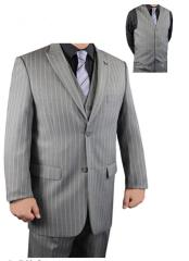JSM-1557 Stacy adams Bold Chalk White Pinstripe suit Available