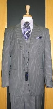 Two Button Three Piece Grey