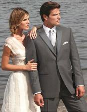 L4X3 Stunning Dark Grey ~ Gray Two Button Tuxedo