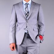 NY6 Mantoni Slim narrow Style Fit patterned Grey 2-Button