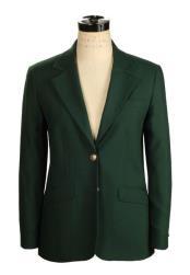 JSM-4182 Womens Belle 2 Button Hunter Green Wrinkle Resistant