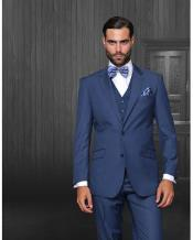 JSM-1326 Mens Statement 2 Button Indigo Blue Modern Fit