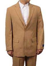 SD266 Mens Khaki Beige 2 Button Notch Lapel
