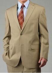 PS9822 Two Button Suit - Camel ~ Khaki