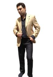 K85H Two Button Blazer Online Sale Camel ~ Khaki