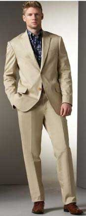 VIN_2PP Two Button Suit - Khaki Stone  Beige