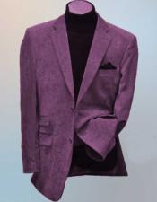 JSM-1598 Mens 2 Button Lavender Wool Blend Side Vents