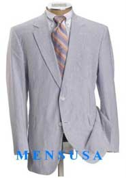 Product# JOSEM2568 Seersucker Suit Causal White