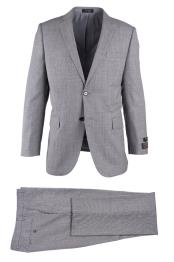 SM4723 Mens Novello Light Gray 2 Button Notch Lapel