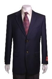2-button Navy Blue Shade Wool
