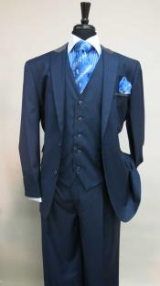 AC-996 Two Button Single Breasted Suit With Matching Vest