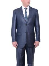 JSM-424 Mens Navy Blue 2 Button Big & Tall