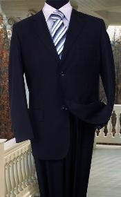 WE456 SOLID COLOR Navy Blue Shade SUIT BY Signature