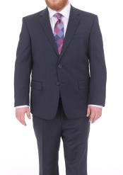 Mens Textured Portly Fit Navy