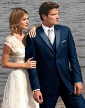 6G3D Stunning Navy ~ Midnight blue Two Button Tuxedo