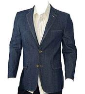 Mens 2 Button Navy 100%