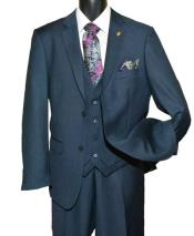 SD158 Mens Two Button Single Breasted Notch Lapel Vested