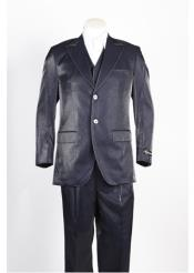 JSM-326 Mens 2 Button Two Piece Navy Suit