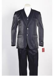 JSM-330 Mens Navy 2 Button Single Breasted Suit
