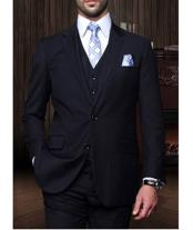 JSM-1268 Mens Statement 2 Button Navy 3 Piece Italian