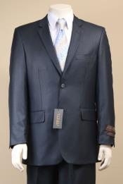 Mens Sharkskin Suits Two Button Suit